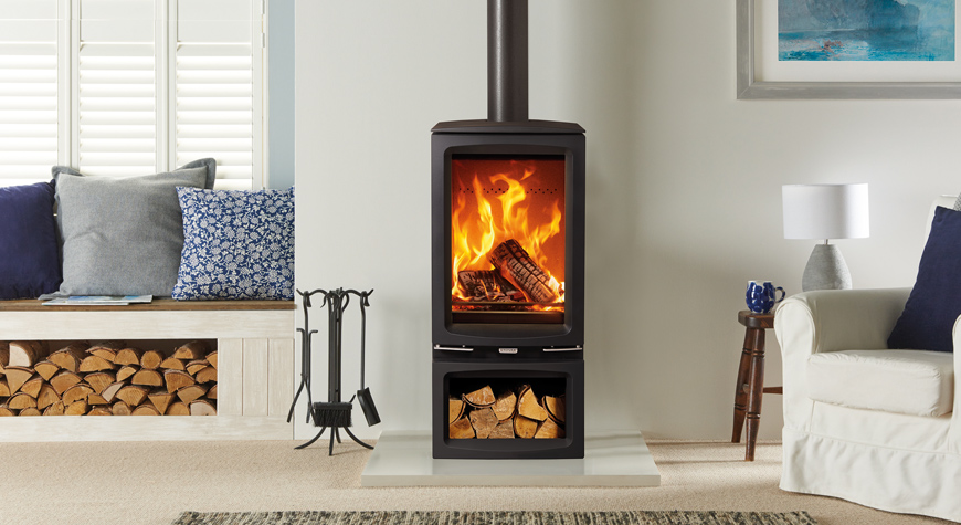 Vogue Midi T wood burning and multi-fuel stove