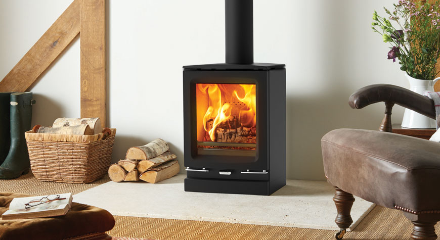 Stovax S Vogue Small Wood Burning With Optional Plinth