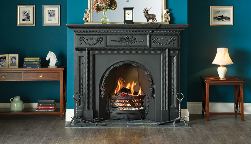 Adelaide Insert Fireplace with William IV Cast Iron Mantel