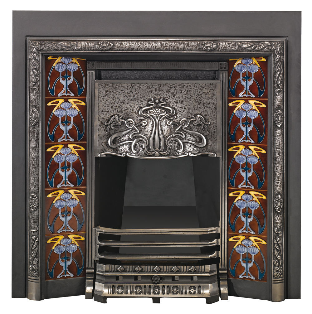 Art Nouveau Tiled Convector Fireplaces Stovax Fireplaces