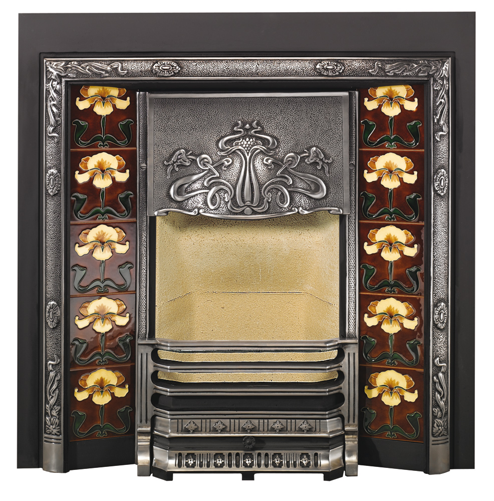Art Nouveau Tiled Fireplace Fronts Stovax Traditional
