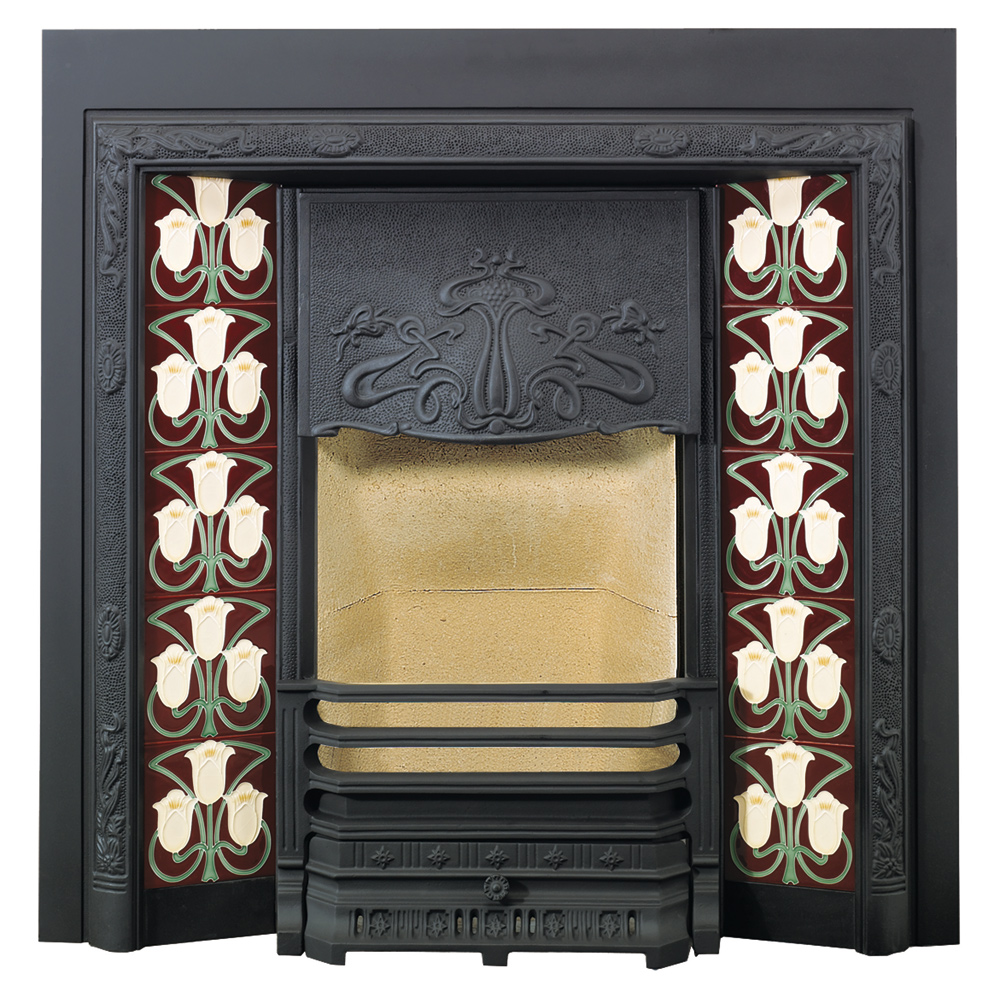 Art Nouveau Tiled Fireplace Fronts - Stovax Traditional ...
