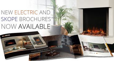 New electric stoves and fires brochures including the latest Skope!