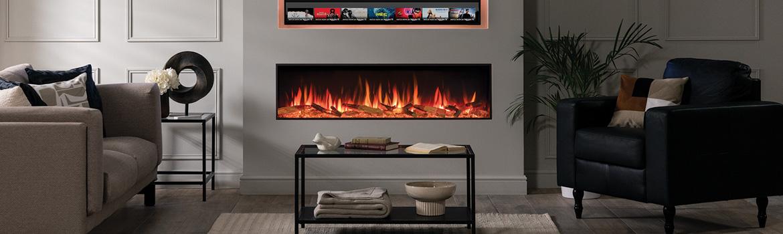 NEW FOR 2021, the Gazco eStudio Electric Fire Range!