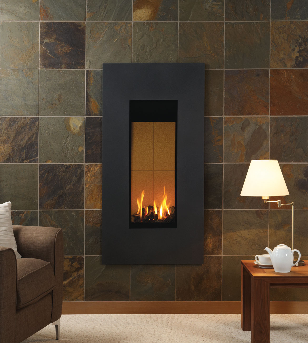 Frequently Asked Questions Stovax Burnt Sienna Slate  Gazco Fireplace Tile Surrounds