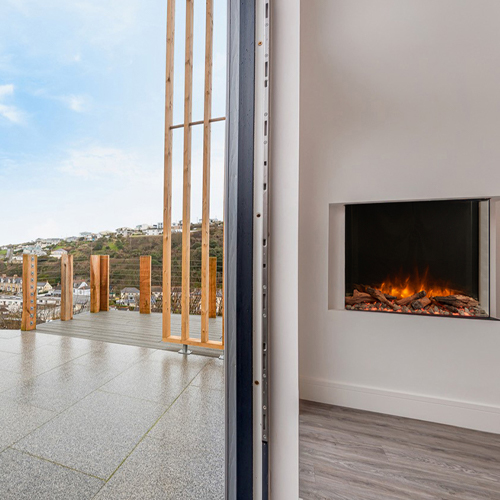 Charlotte & Joey, Harbour Heights, eReflex electric fire