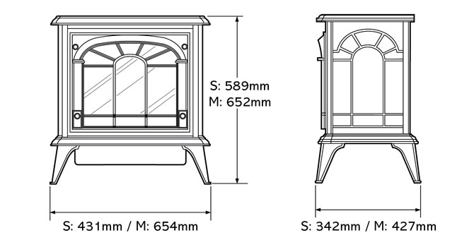 Clarendon Electric Stoves Dimensions