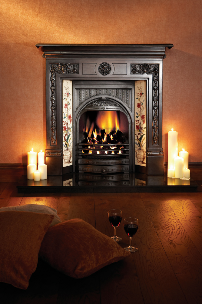 Combination Tiled Insert Fireplaces Stovax Traditional