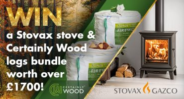 Win a Stovax wood burning stove & Certainly Wood kiln dried logs bundle worth over £1700!