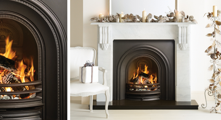 Decorative Fireplace Inserts decorative arched insert fireplaces - stovax  traditional fireplaces