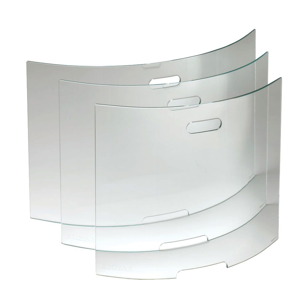 Curved Glass Fire Screens - Stovax Accessories
