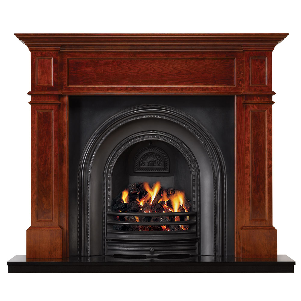 Wooden Fireplace: Stovax Grosvenor Wood Mantel