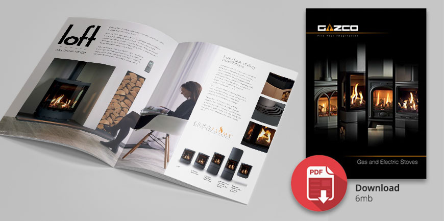 The new Gazco gas and electric stove brochure