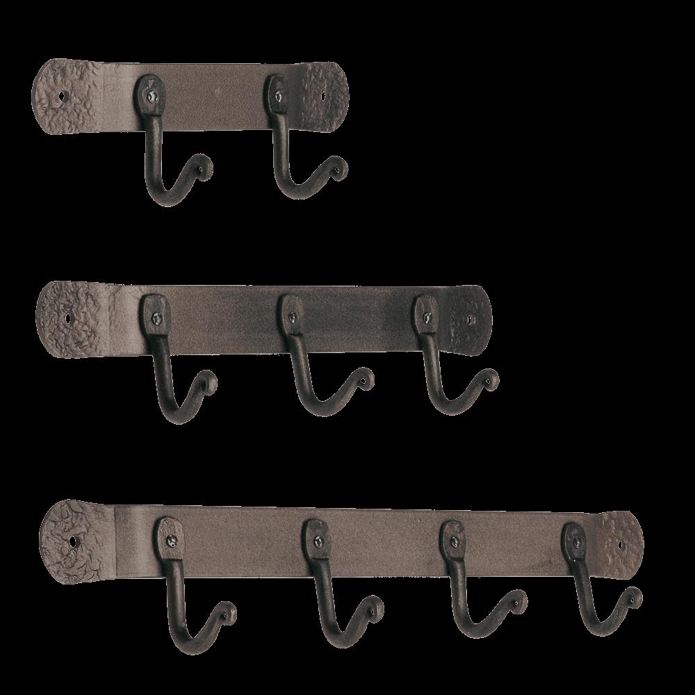 Vintage Iron Hand-Forged Tool Hooks