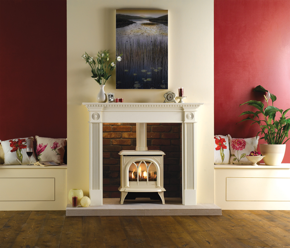 gas fireplace natural ignite broseley product evolution flue stove conventional