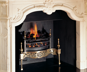 Gazco made-to-measure log-effect fire at Langs Hotel, Glasgow