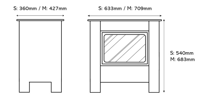 Steel Manhattan Electric Stoves Dimensions