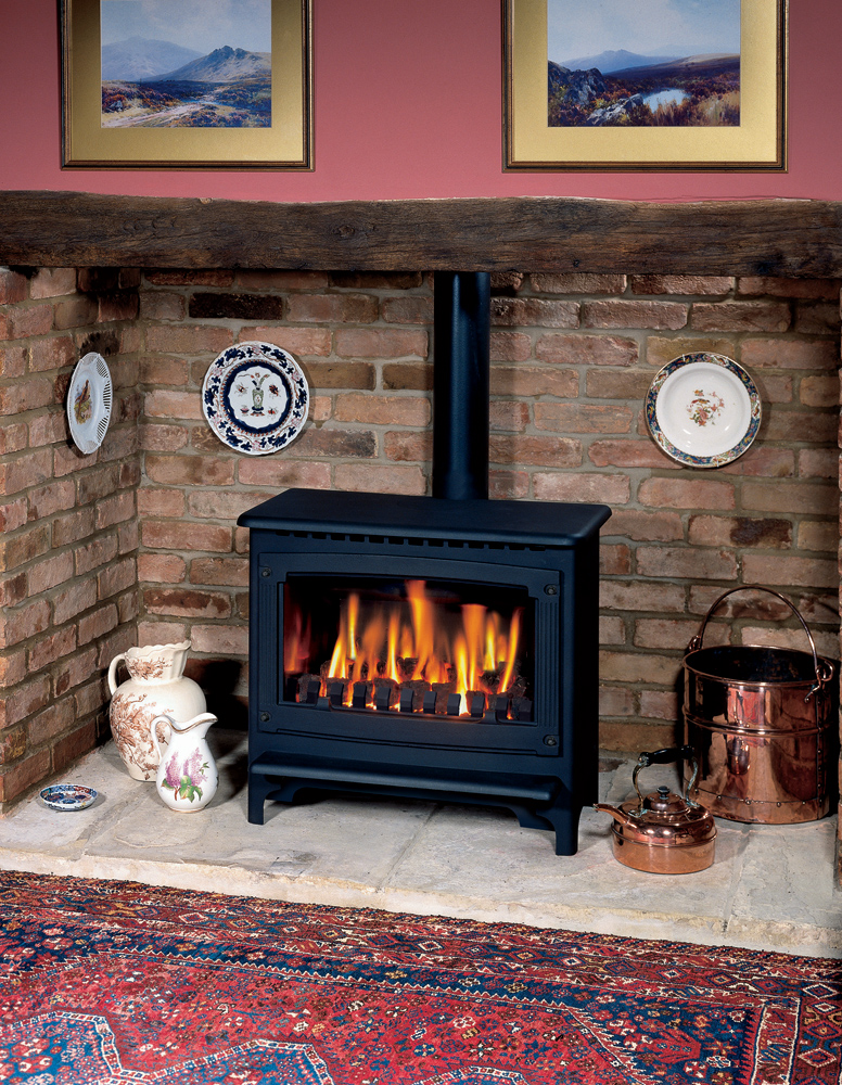 Log Burner Effect Fires Part - 29: Gazco Large Marlborough Gas Stove, Conventional Flue With Coal-effect Fire