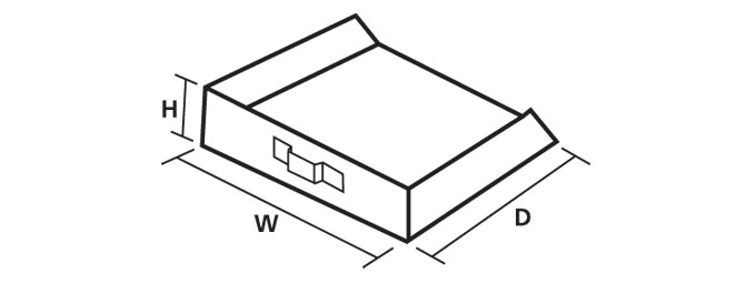 Rectangular Ash Pan Dimensions