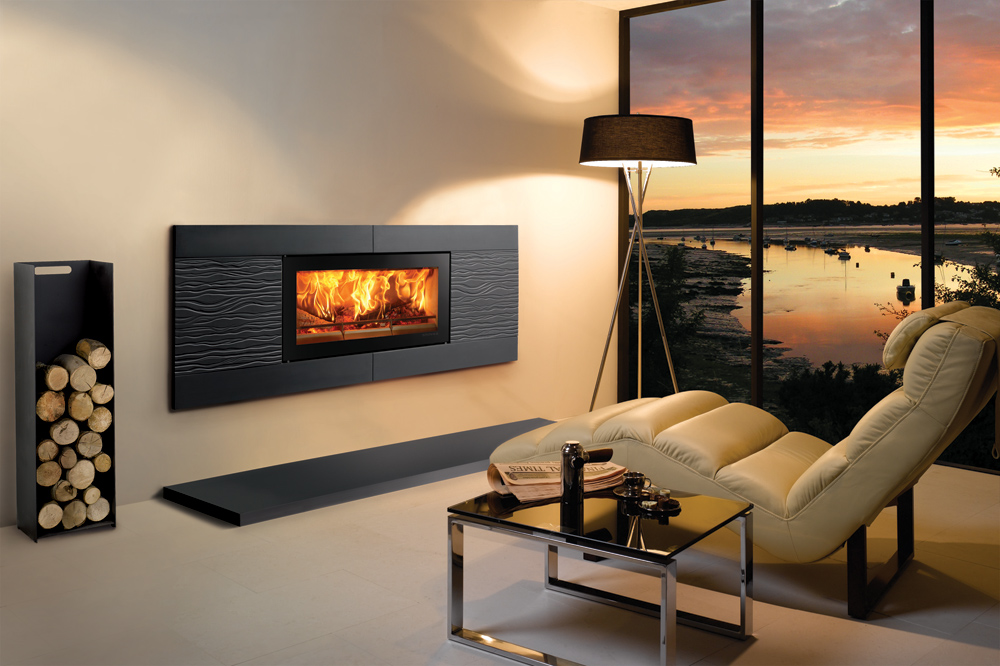 Studio ceramica wave wood burning inset fires for Disegni duplex moderni