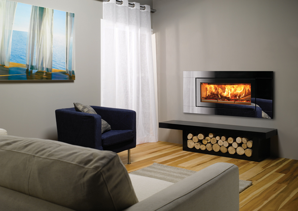 Studio Glass Inset Wood Burning Fires - Stovax Fires