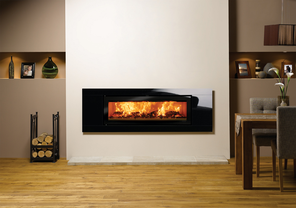 Studio Glass Inset Wood Burning Fires Stovax Fires