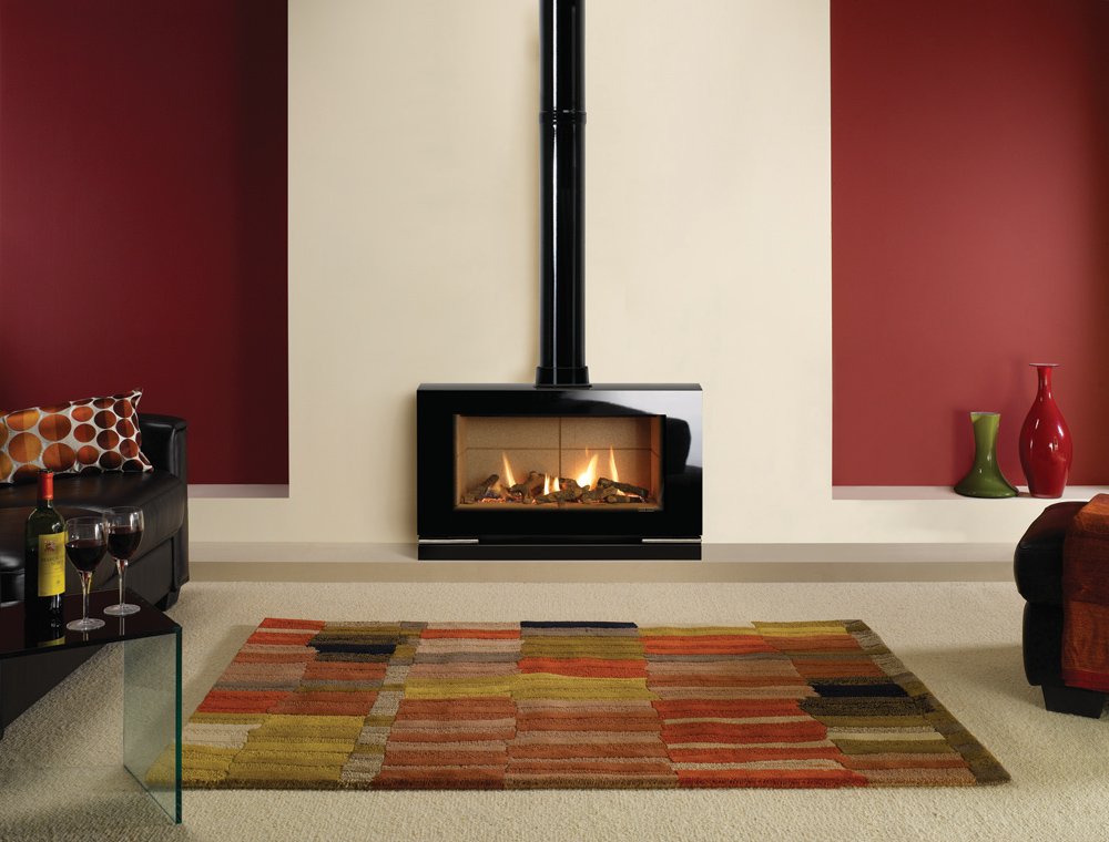 Riva vision large gas stoves for Large modern fireplaces