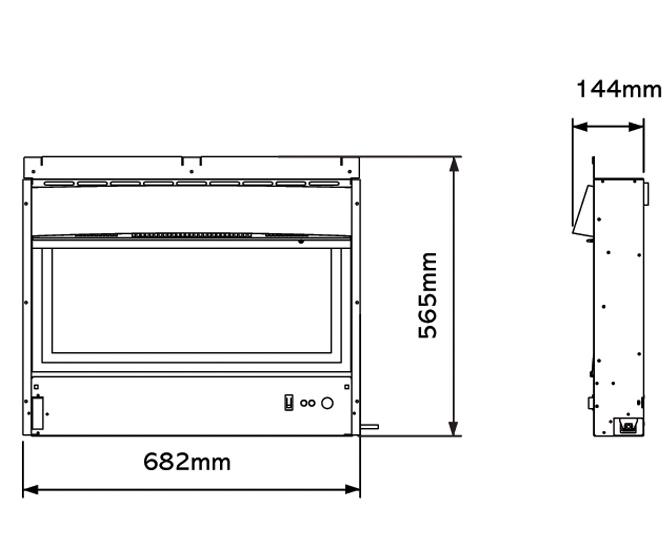 Riva2 670 Electric Designio2 Steel Dimensions