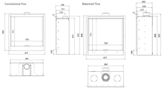 Riva2 750HL Icon XS Dimensions