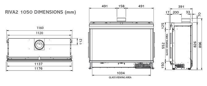 Riva2 1050 Icon XS Dimensions