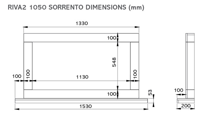 Riva2 1050 Sorrento Dimensions