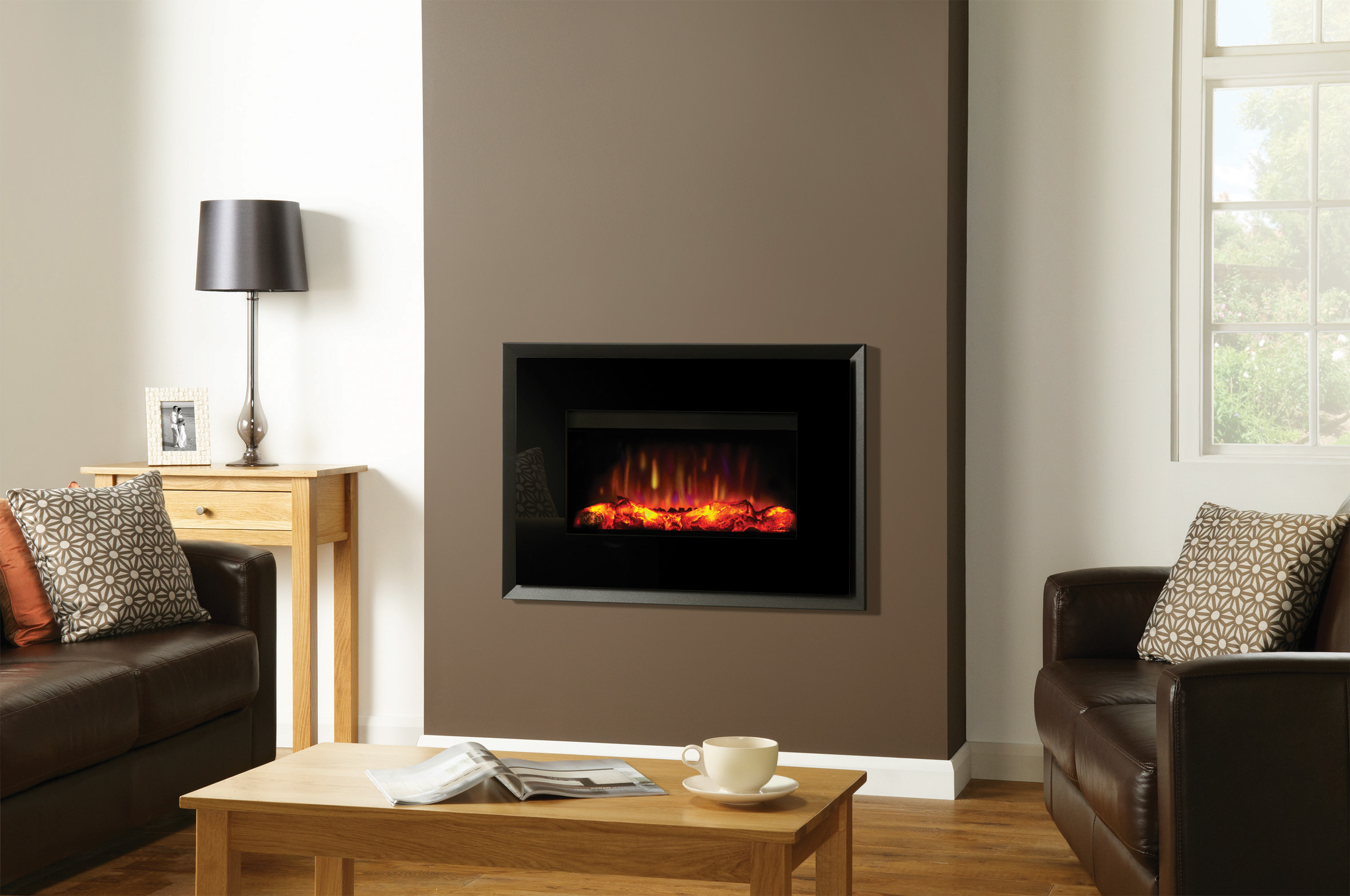 Riva2 670 Electric Evoke Glass Fires Gazco Fires