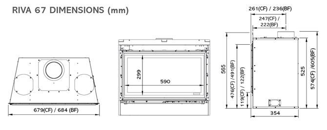 Riva 67 Vetro Dimensions