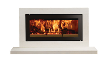 Contemporary wood burning fireplaces