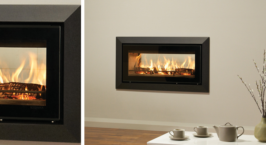 Studio duplex inset wood burning fires for Double sided fireplace price