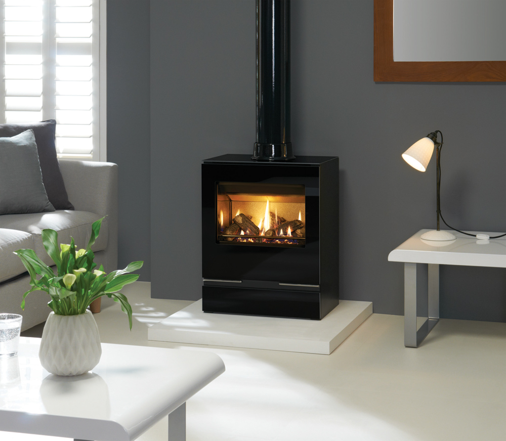 Riva Vision Medium Gas Stoves Gazco Contemporary Stoves
