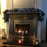 """Wonderful Xmas evening by our new fireplace"""
