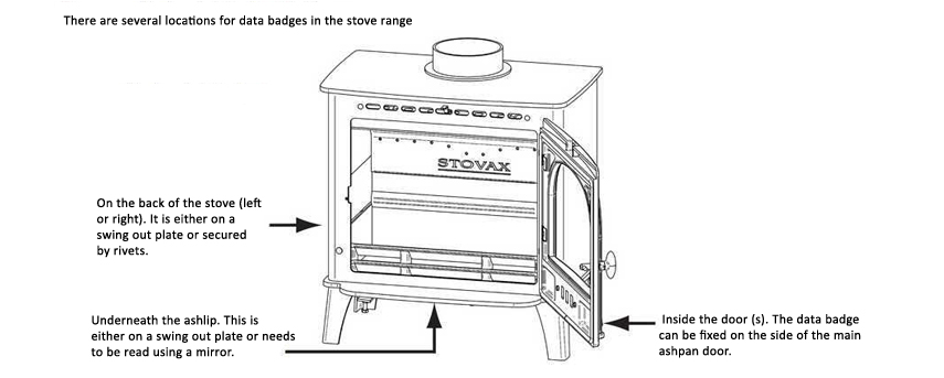 How to locate the serial number of your solid fuel stove