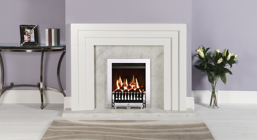Art Deco Fire Basket Stovax : Spanish front inset gas fires from gazco