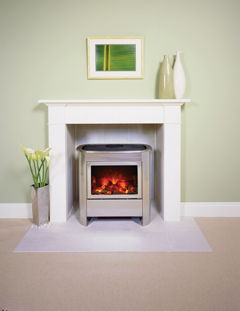 18 white stone electric fireplace studio profil inset wood