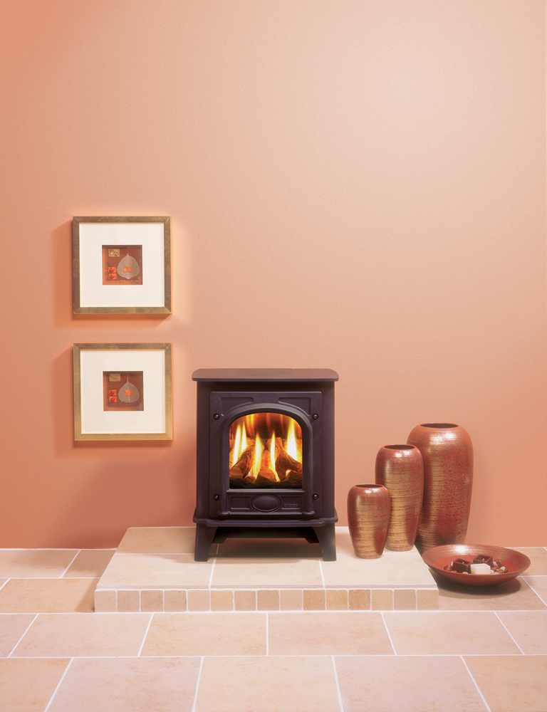 Log Burner Effect Fires Part - 49: Gazco Small Stockton Gas Stove, Balanced Flue With Log-effect Fire