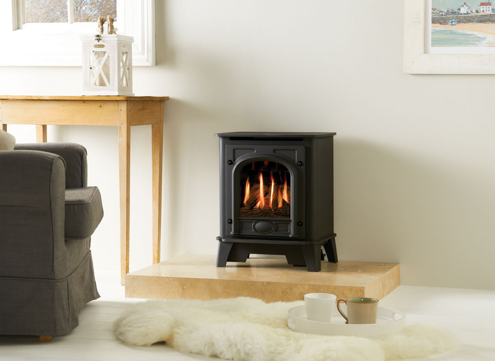 Log Burner Effect Fires Part - 21: Gazco Small Stockton Gas Stove, Balanced Flue With Coal-effect Fire