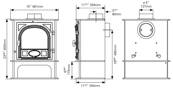 Stockton 5 Midline Dimensions
