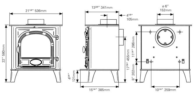 stockton 7 wood burning multi fuel stovax stoves. Black Bedroom Furniture Sets. Home Design Ideas