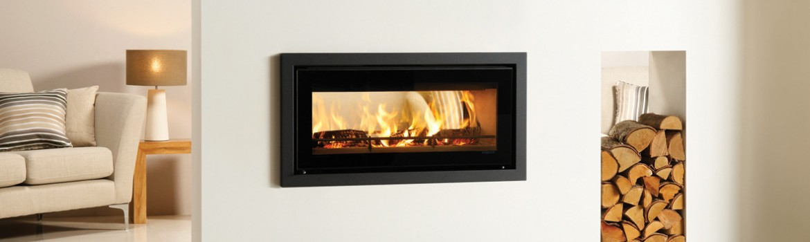 A woodburner with a double view!