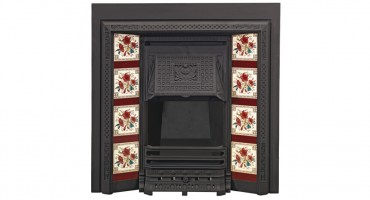Traditional wood burning fireplaces