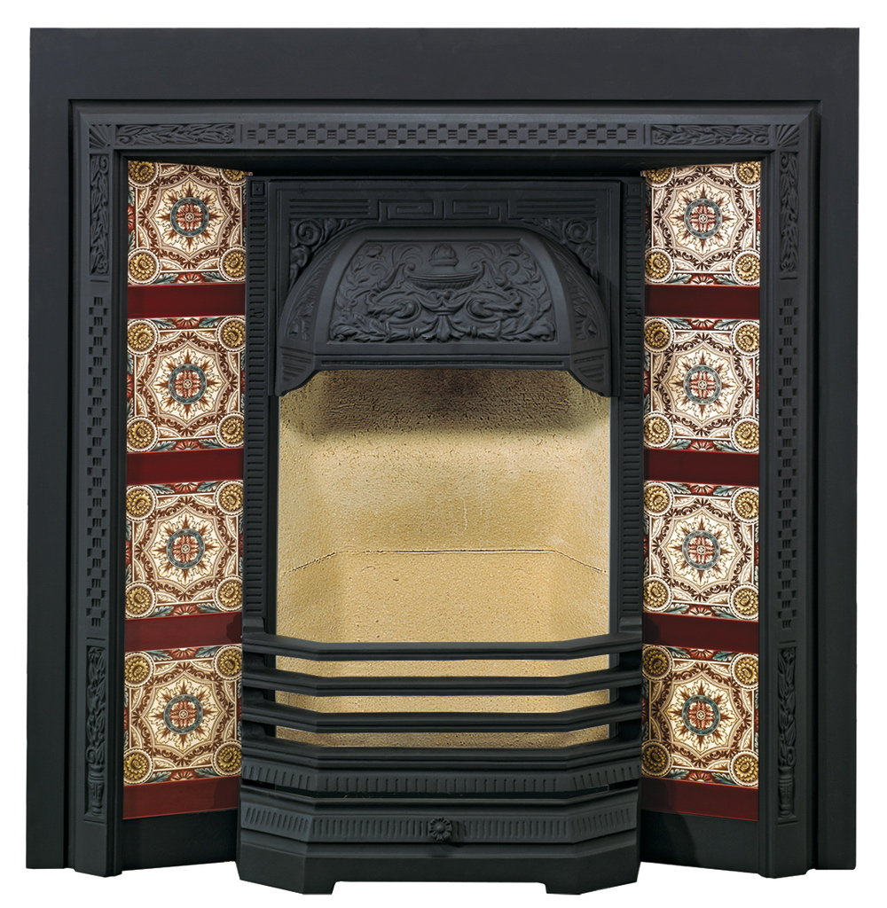 victorian tiled fireplace fronts stovax traditional. Black Bedroom Furniture Sets. Home Design Ideas