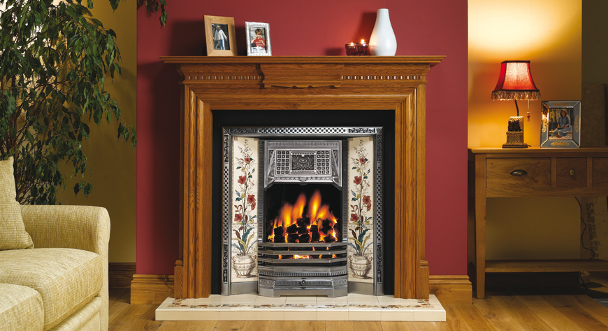 Gas Victorian Fireplace Victorian Tiled Fireplaces  Stovax Traditional Fireplaces