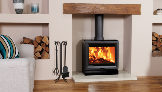 View 8 wood burning and multi-fuel stove